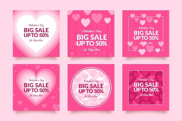Post do instagram com o conceito de vendas do dia dos namorados