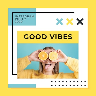 Post no instagram com boas vibrações