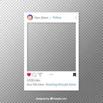 Post no instagram com fundo transparente