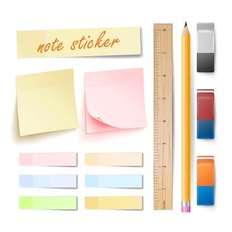 Post note sticker vector