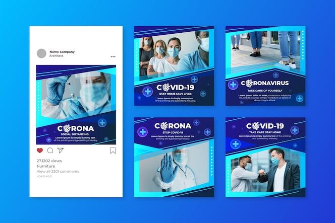 Post pack do instagram do coronavirus