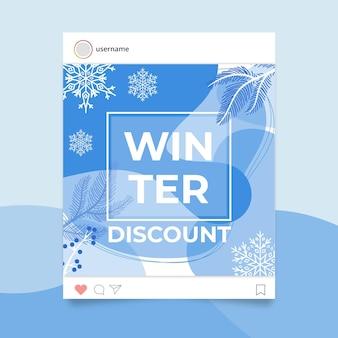 Postagem abstrata monocolor de inverno no instagram