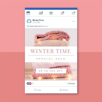 Postagem criativa de inverno no facebook