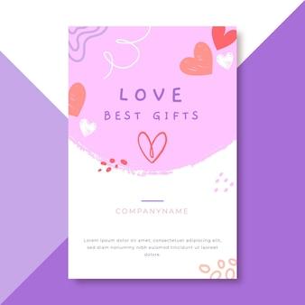 Postagem de blog sobre amor infantil desenhada à mão