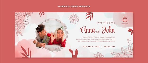 Postagem de casamento em aquarela no facebook