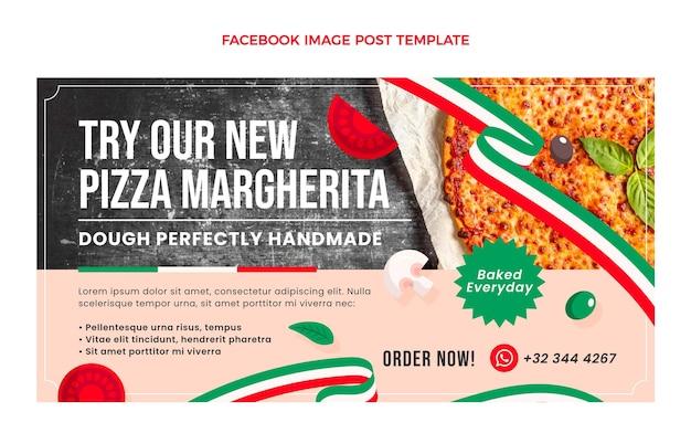 Postagem de comida italiana plana no facebook