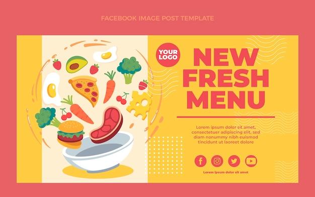 Postagem de comida plana no facebook