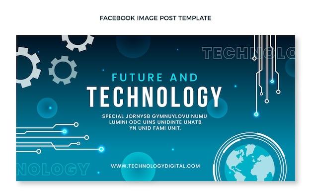 Postagem de facebook de tecnologia mínima