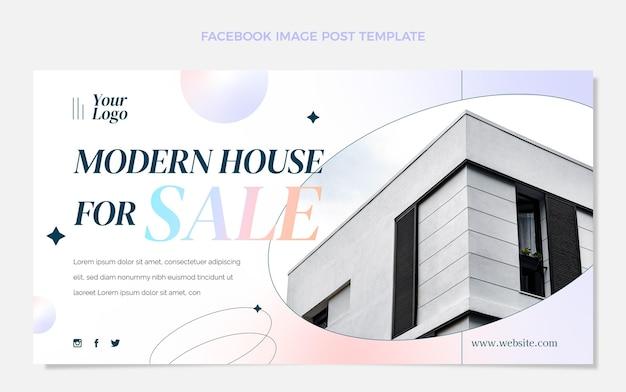 Postagem de gradiente imobiliário no facebook