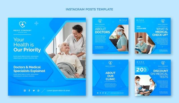Postagem de gradiente médica no instagram Vetor grátis