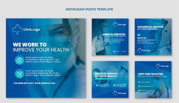Postagem de gradiente médica no instagram