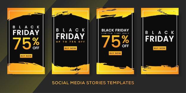 Postagem de histórias de banner de panfleto de sexta-feira negra.