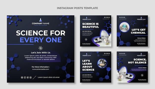 Postagem de instagram de ciência de gradiente