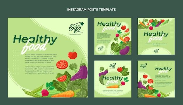 Postagem de instagram de comida plana orgânica