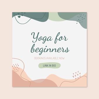 Postagem de instagram de esporte de ioga de ondas abstratas
