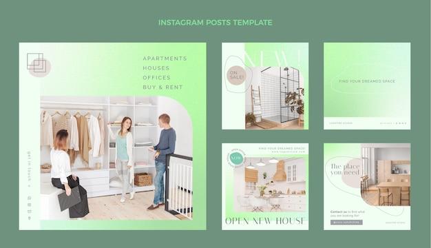 Postagem de instagram de gradiente imobiliário
