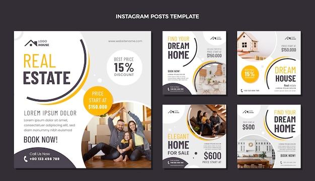 Postagem de instagram de imóveis geométricos de design plano