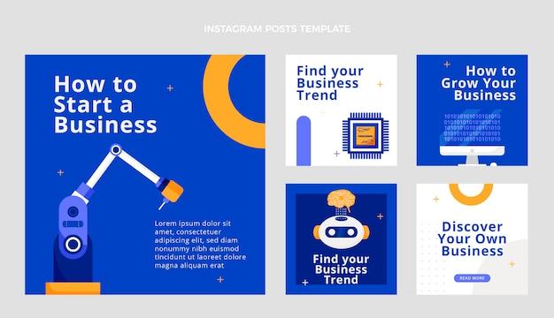 Postagem de instagram de tecnologia mínima de design plano
