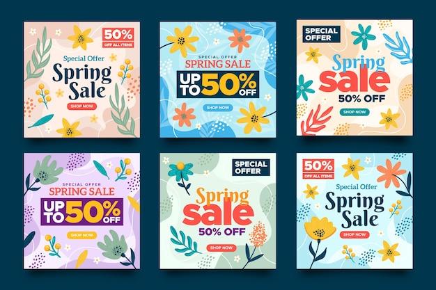 Postagem de instagram de venda de primavera