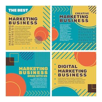Postagem de marketing de negócios no instagram