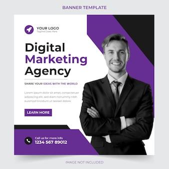 Postagem de marketing digital e mídia social corporativa e modelo de design de banner da web premium vector