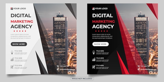 Postagem de mídia social de agência de marketing digital