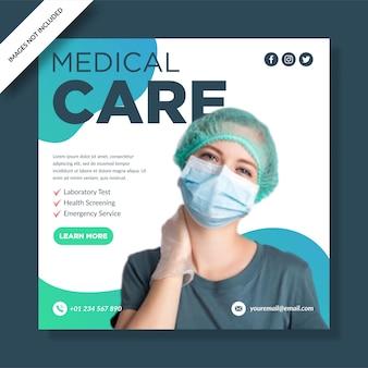 Postagem de mídia social de assistência médica