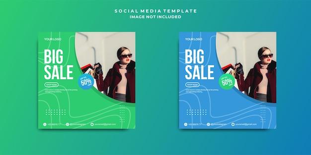 Postagem de mídia social de grande venda