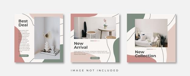 Postagem de mídia social de móveis modernos minimalistas
