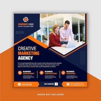 Postagem de mídia social de negócios criativos e modelo de banner da web