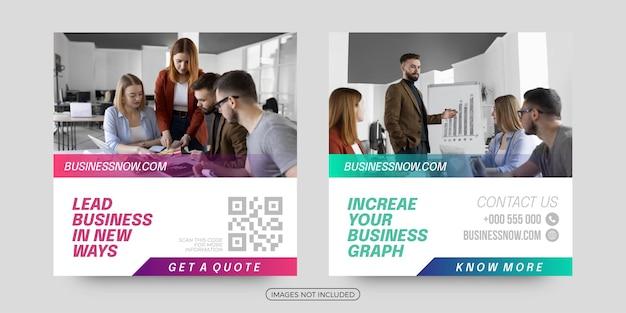 Postagem de mídia social de soluções de negócios corporativos