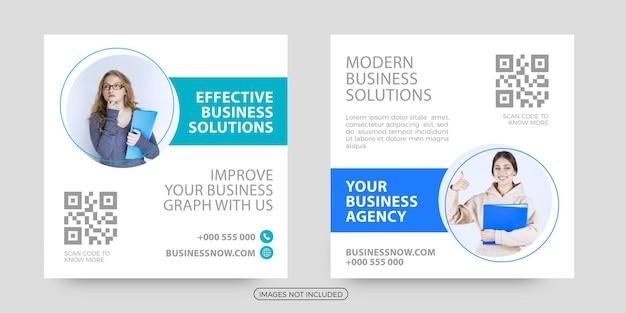Postagem de mídia social de soluções de negócios eficazes
