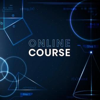 Postagem de mídia social de tecnologia de vetor de modelo de curso online