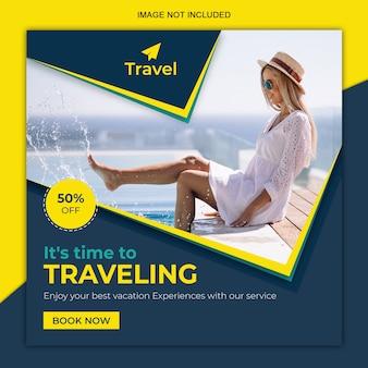 Postagem de mídia social de viagem