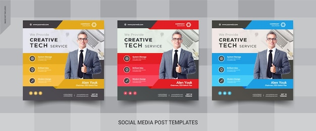 Postagem de mídia social instagram de serviço técnico