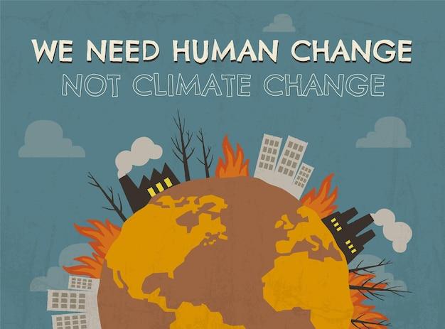 Postagem de mudança humana desenhada à mão no facebook