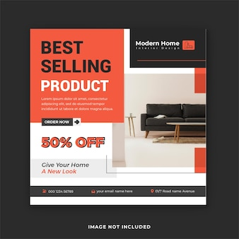 Postagem de venda de móveis em mídia social e design de postagem no instagram de comércio eletrônico