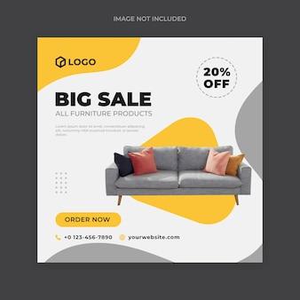 Postagem de venda de móveis nas redes sociais