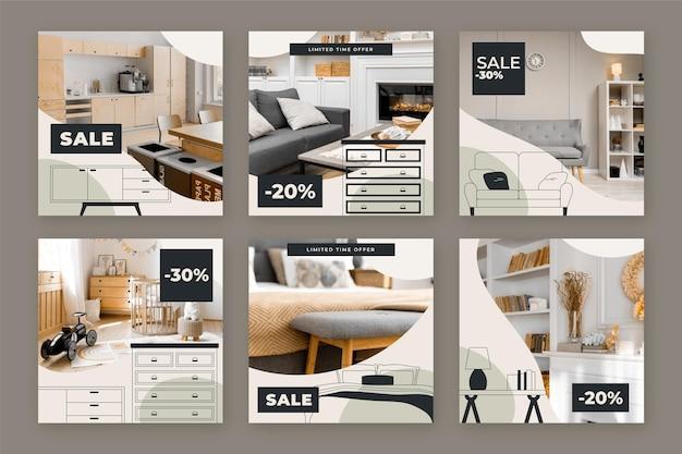 Postagem de venda de móveis no instagram
