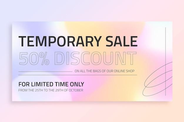 Postagem de vendas temporária moderna no twitter