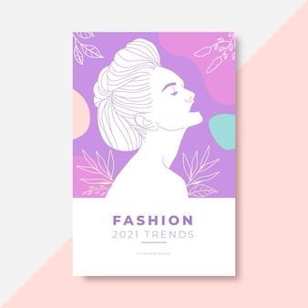 Postagem do blog de moda colorida doodle