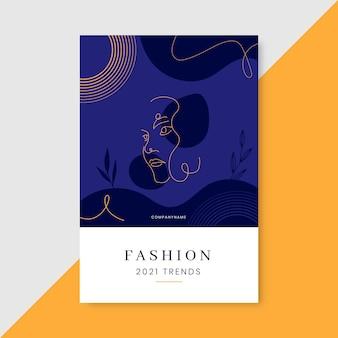 Postagem do blog de moda elegante do doodle