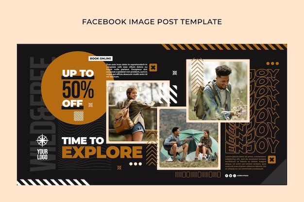Postagem do facebook de aventura plana