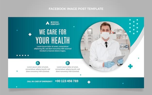 Postagem do facebook de cuidados médicos de design plano