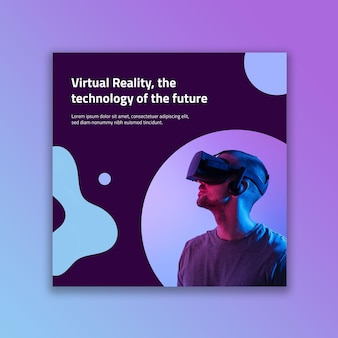 Postagem do facebook de tecnologia futurista abstrata