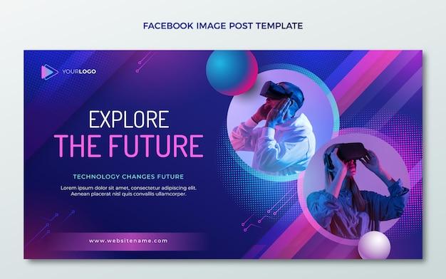 Postagem do facebook de tecnologia gradiente de meio-tom