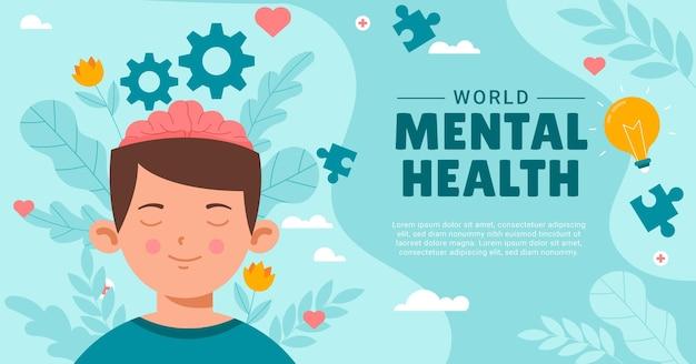 Postagem do facebook sobre saúde mental plana