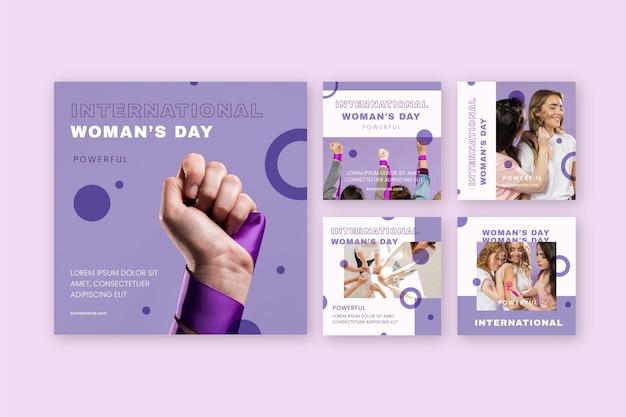 Postagem do insatgram do dia internacional da mulher