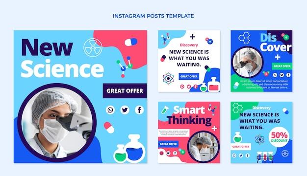 Postagem do instagram da ciência do flt design