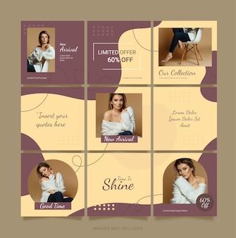 Postagem do instagram da moda do enigma do modelo